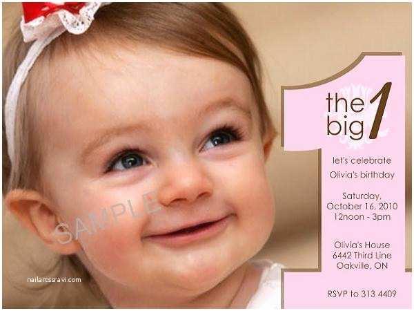 1st Birthday Invitation Wording First Invitations Sample Easyday