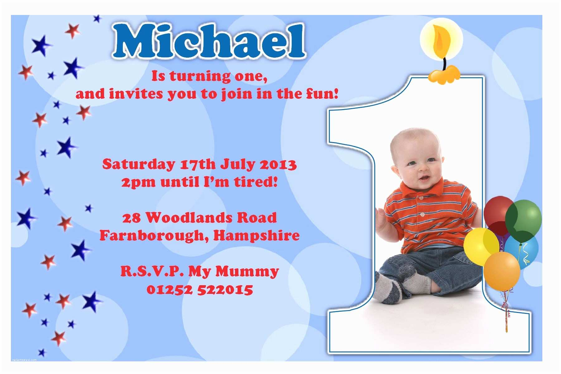 1st Birthday Invitation Wording First Birthday Party Invitation Ideas – Bagvania Free