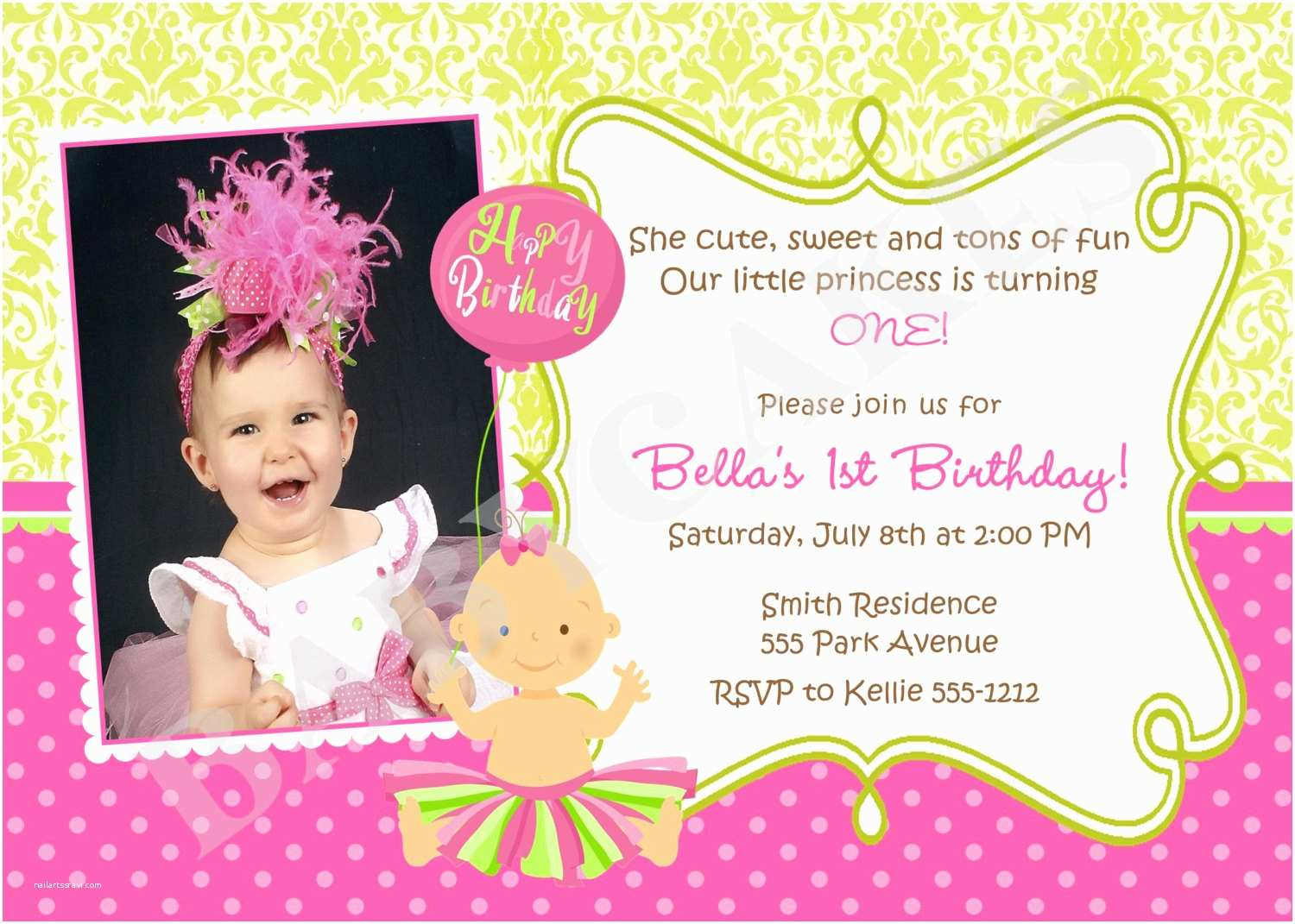 1st Birthday Invitation Wording Quotes for 1st Birthday Invitations Quotesgram
