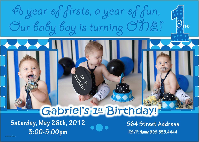 1st Birthday Invitations Boy Baby Boy 1st Birthday Invitations
