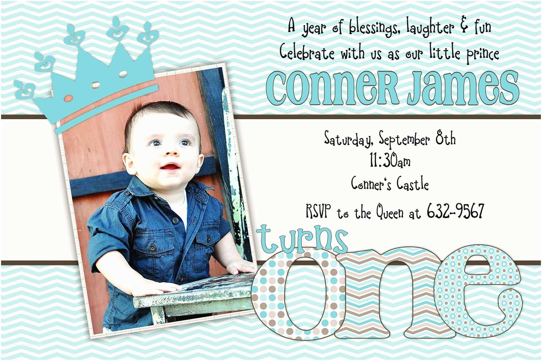 1st Birthday Invitations Boy Baby First