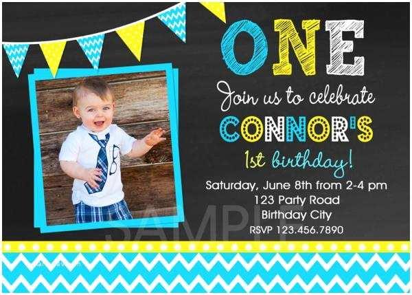 1st Birthday Invitations Boy Chevron Birthday Party Invitations Boys 1st Birthday