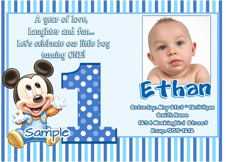 1st Birthday Invitations Boy Free 1st Birthday Invitation Maker