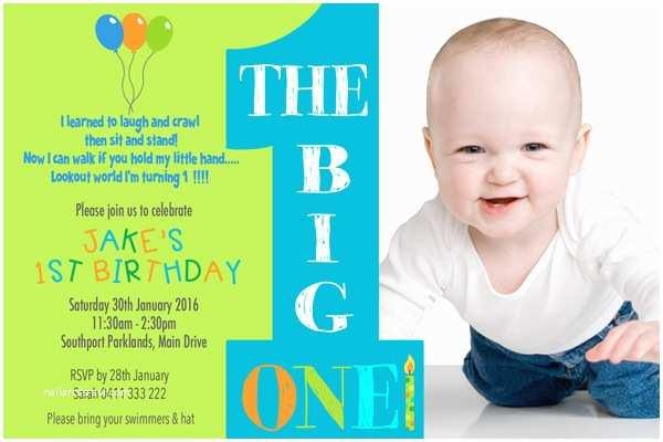 1st Birthday Invitations Boy Personalised Invitations Party Birthday Girl Birthday