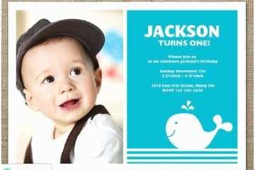 1st Birthday Invitations Boy Whale Invitation