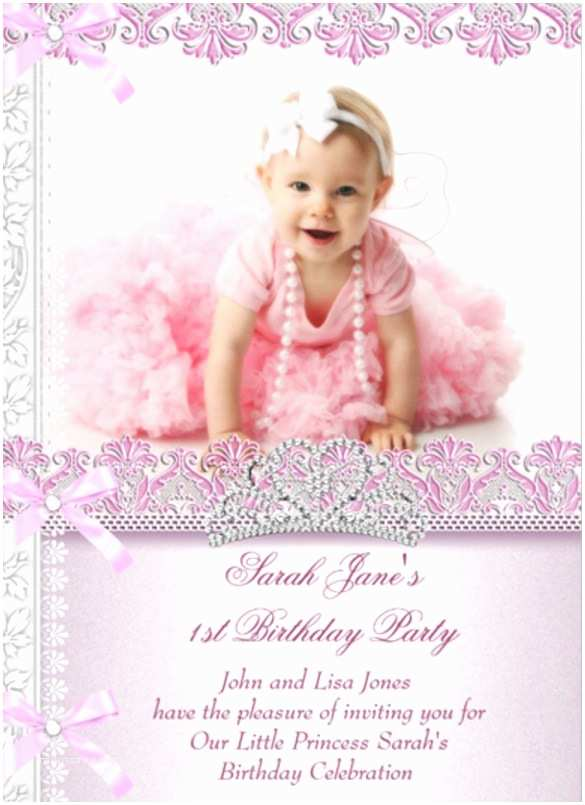 1st Birthday Invitations Girl 30 First Free Psd Vector Eps Ai