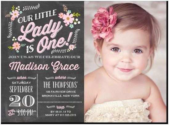 1st Birthday Invitations Girl Best 25 First Birthday Invitations Ideas On Pinterest