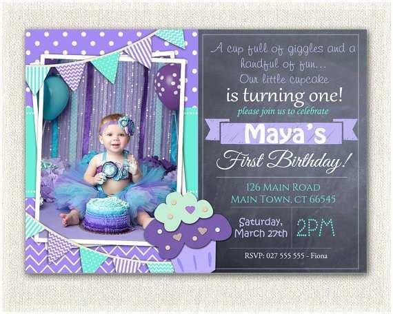 1st Birthday Invitations Girl First Birthday Invitation Printable Download 1st Birthday