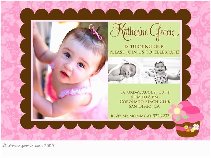 1st Birthday Invitations Girl First Ideas Bagvania Free Printable