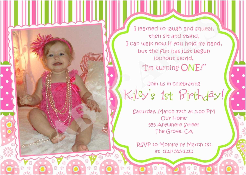 1st Birthday Invitations Girl Free First Birthday Invitations Girl