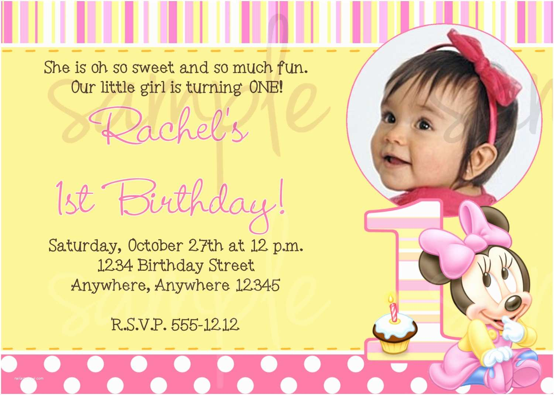 1st Birthday Invitations Minnie Mouse Invitation