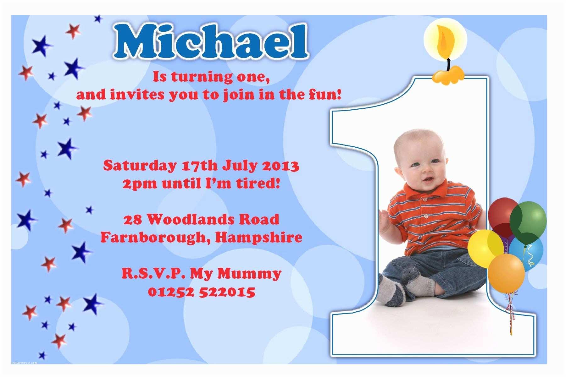 1st Birthday Party Invitations Birthday Party Invitation Template Sample
