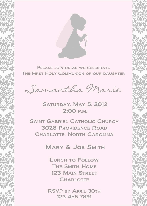 1st Communion Invitations First Holy Munion Invitation Religious Invitation Holy