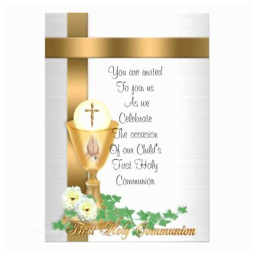"1st Communion Invitations First Munion Invitation 5"" X 7"" Invitation Card"