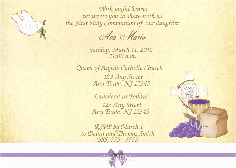 1st communion invitations girl first munion invitation pink