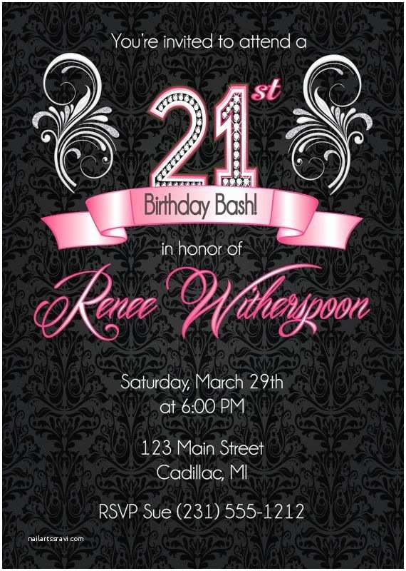 21 Birthday Invitations Best 25 21st Ideas On Pinterest