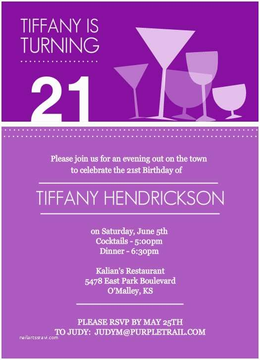21st Birthday Invitations 21st Birthday Invite Ideas