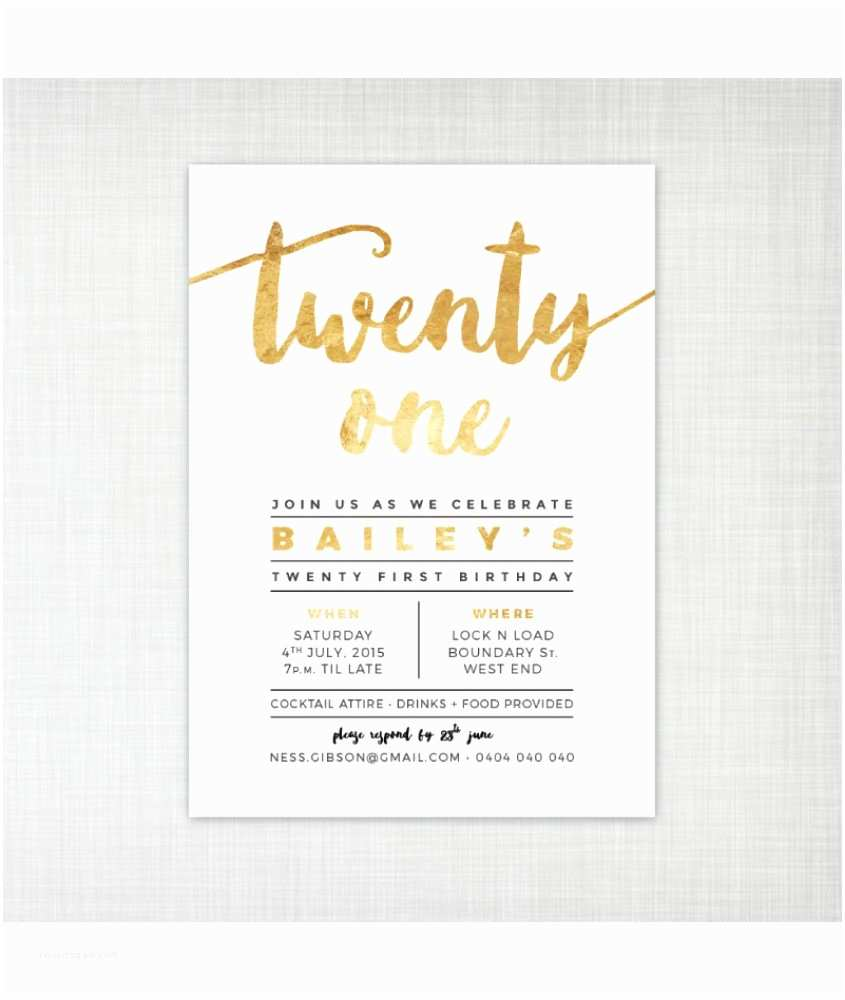 21st Birthday Invitations Birthday Invitations 21st