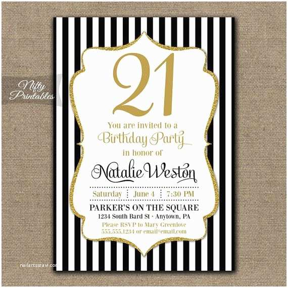 21st Birthday Invitations Free Printable Wording