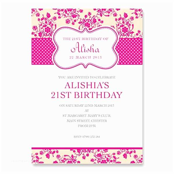 21st Birthday Invitations Girl S 21st Birthday Invitation