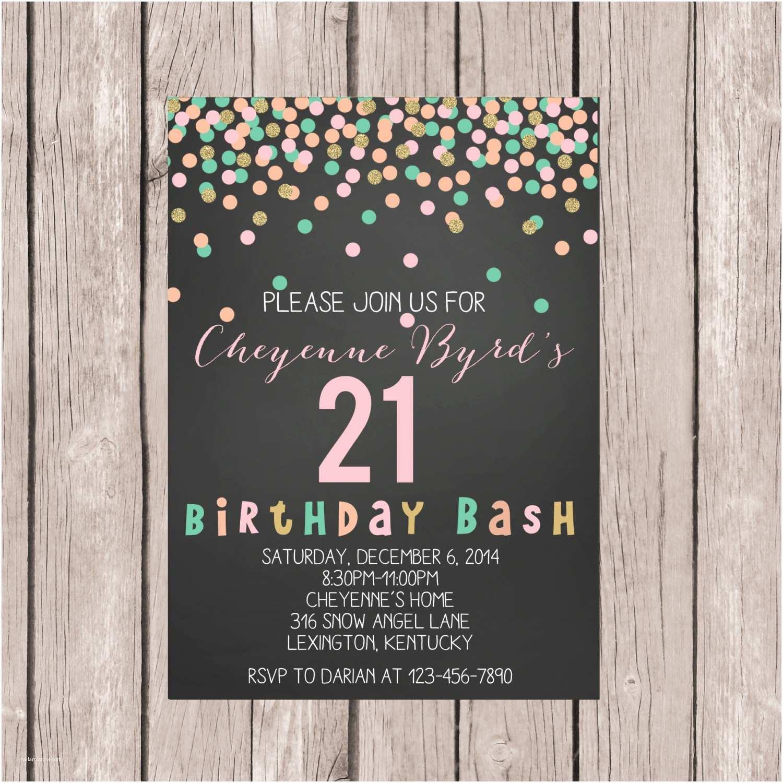 21st Birthday Invitations Printable 21st Birthday Invite 21st Birthday Invitation