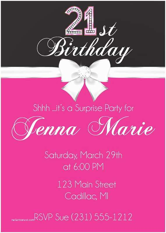 21st Birthday Party Invitations Invitation