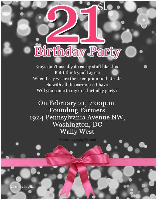 21st Birthday Party Invitations 21st Birthday Party Invitation Wording Wordings and Messages