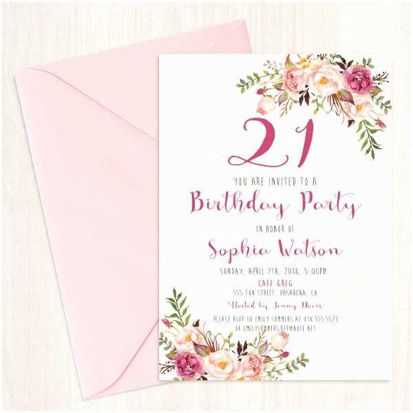 21st Birthday Party Invitations Examples Of Birthday Invitations 33 Free Psd Vector Ai