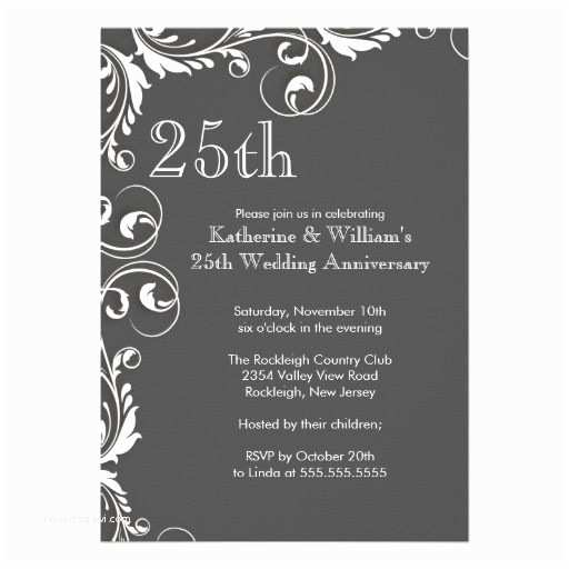 25th Birthday Invitations 152 Best 25th Wedding Anniversary Party Silver Images On