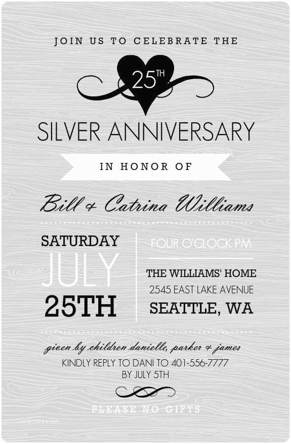 25th Birthday Invitations 25 Best Ideas About Wedding Anniversary Invitations On