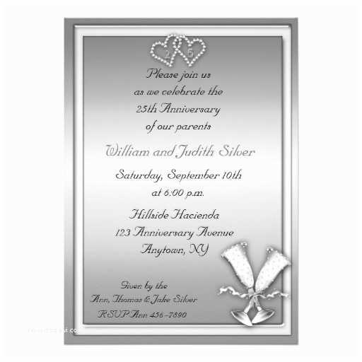 """25th Birthday Invitations 25th Anniversary Champagne Invitation 5"""" X 7"""" Invitation"""