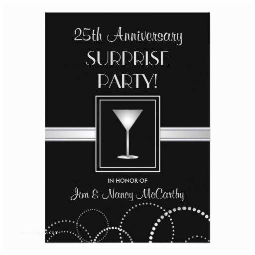 25th Birthday Invitations 25th Anniversary Surprise Party Custom Invitations