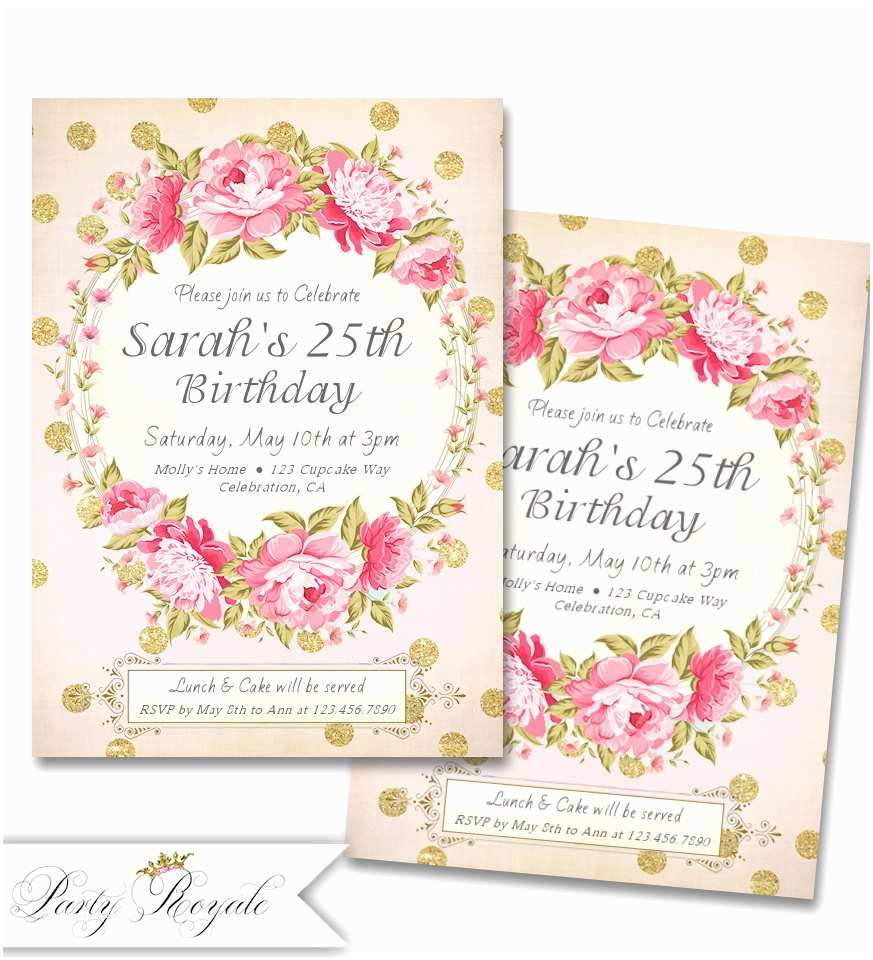 25th Birthday Invitations 25th Surprise Birthday Party Invitations – Bagvania Free