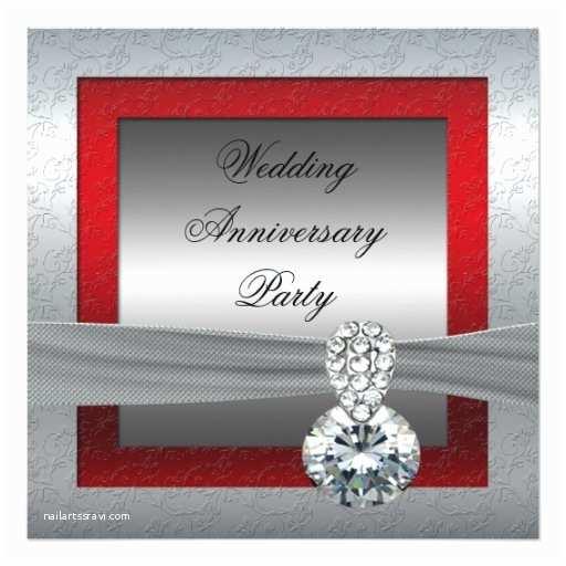 25th Birthday Invitations Silver 25th Wedding Anniversary Party Invitation