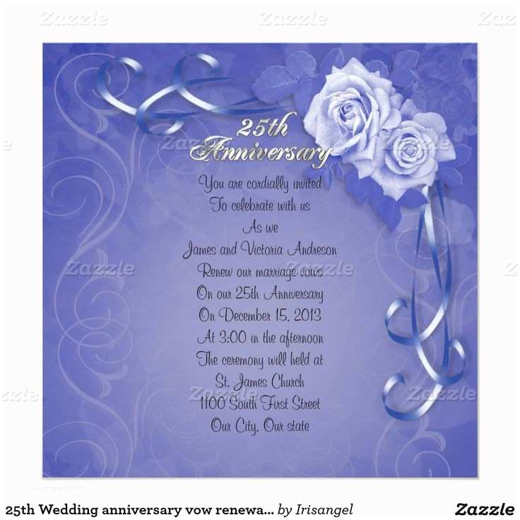 25th Wedding Anniversary Invitation Cards 1000 Images About 25th Anniversary Invitations Customized
