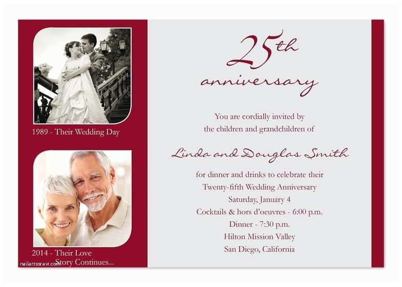 25th Wedding Anniversary Invitation Cards 25th Wedding Anniversary Invitation Cards A Birthday Cake