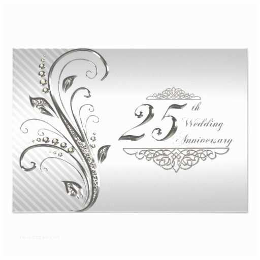 25th Wedding Anniversary Invitation Cards 25th Wedding Anniversary