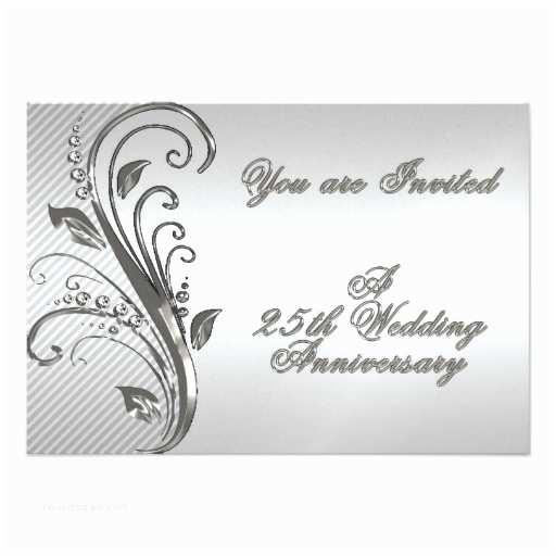 "25th Wedding Anniversary Invitation Cards 25th Wedding Anniversary Rsvp Invitation Card 3 5"" X 5"