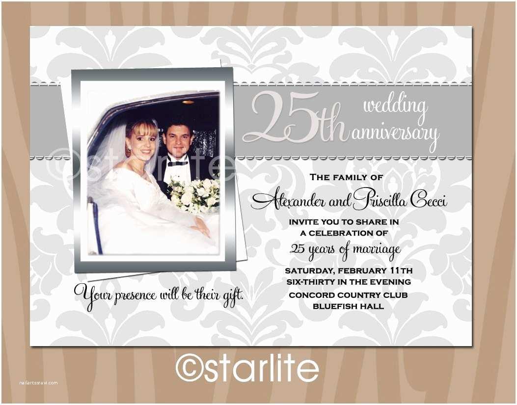 25th Wedding Anniversary Invitation Cards Anniversary Invitation Anniversary Invitation Cards