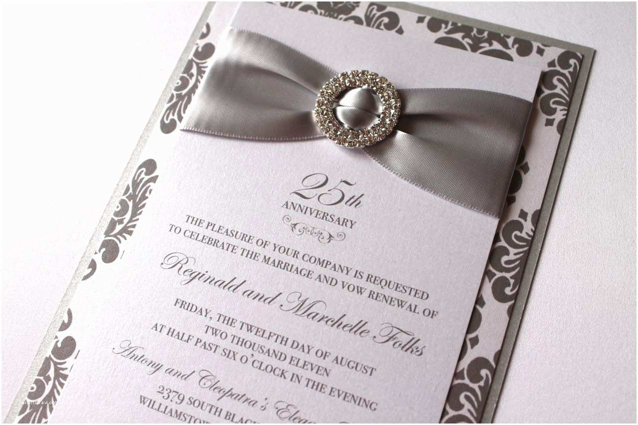 25th Wedding Anniversary Invitation Cards Anniversary Invitations 25th Silver Wedding Anniversary