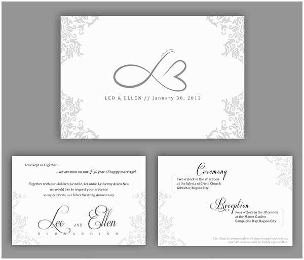 25th Wedding Anniversary Invitation Cards Free Download 20 Wedding Anniversary Invitation Card Templates
