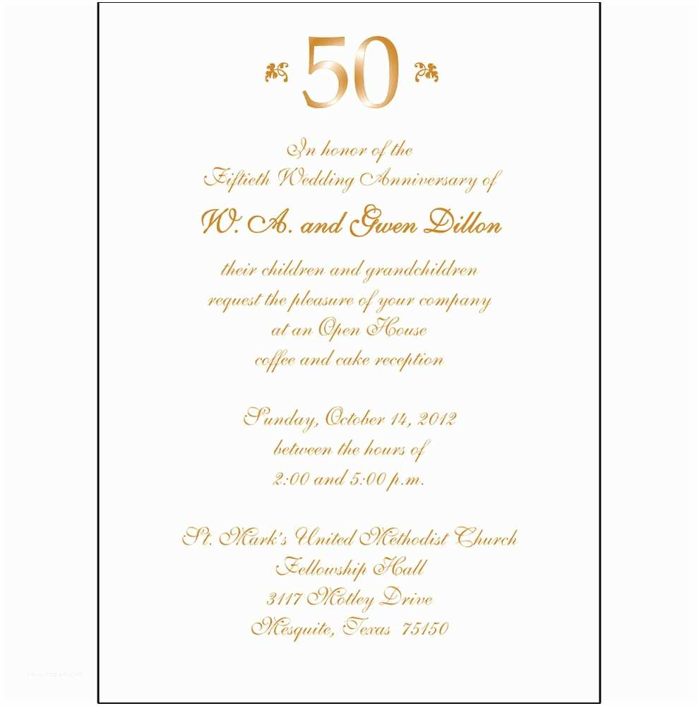 25th Wedding Anniversary Invitation Cards Free Download 25 Personalized 50th Wedding Anniversary Party Invitations