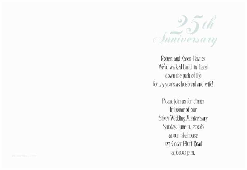 25th Wedding Anniversary Invitation Cards Free Download 25th Anniversary Invitation Template Free