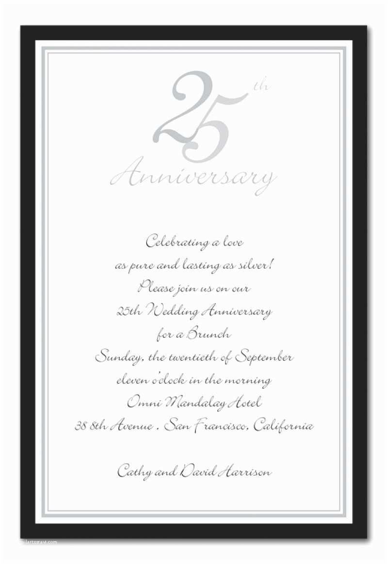 25th Wedding Anniversary Invitation Cards  Download 25th Anniversary Party Invitation Template