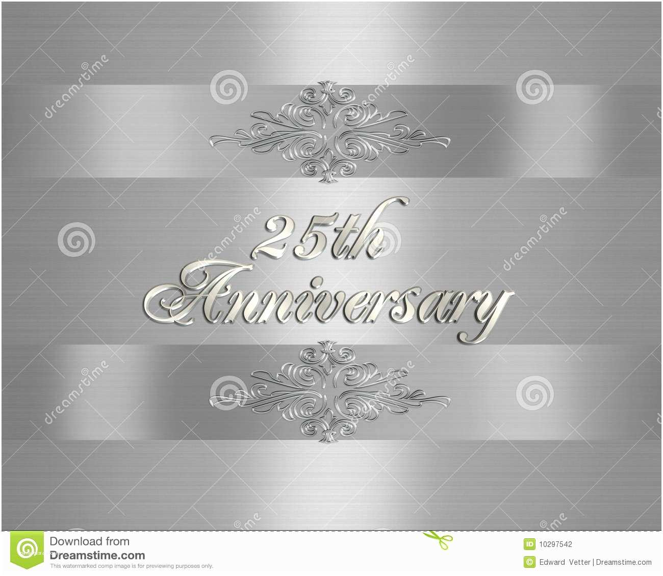 25th Wedding Anniversary Invitation Cards Free Download 25th Wedding Anniversary Invitation Stock