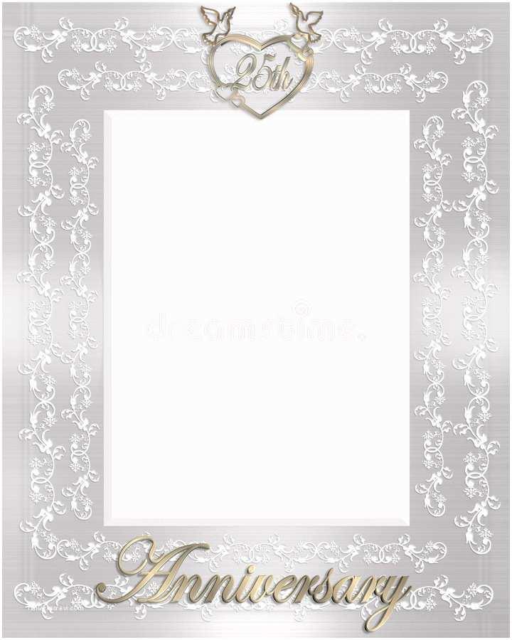 25th Wedding Anniversary Invitation Cards Free Download 25th Wedding Anniversary Invitation Stock Illustration