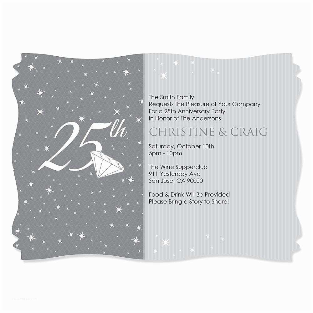 25th  Anniversary Invitation Cards Free Download 25th  Anniversary Invites 25th