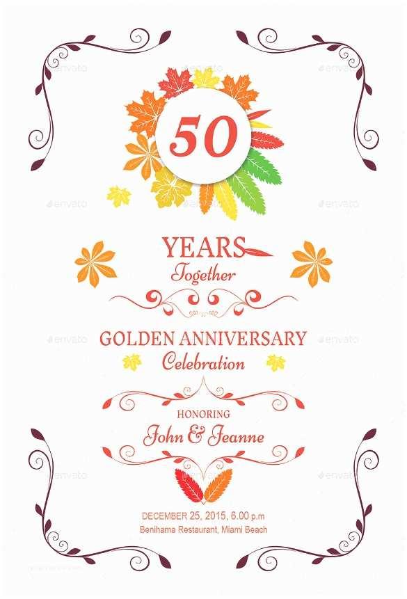 25th Wedding Anniversary Invitation Cards Free Download 27 Anniversary Invitation Templates Free Psd