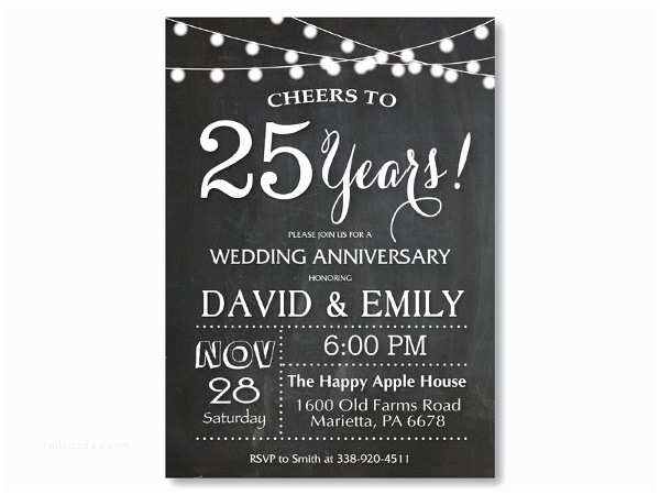 25th Wedding Anniversary Invitation Cards Free Download 6 Anniversary Invitation Cards Editable Psd Ai Vector