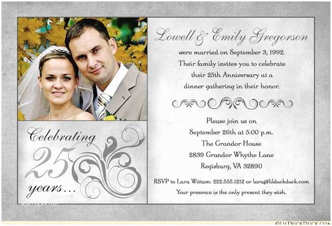 25th Wedding Anniversary Invitation Cards Free Download Fashionable 25th Anniversary Invitation Wedding